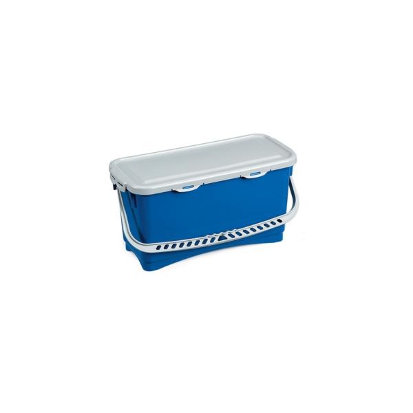 seau bleu avec anse et couvercle tanche de 20 litres entretien des sols le raton. Black Bedroom Furniture Sets. Home Design Ideas