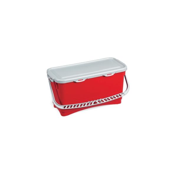seau rouge avec anse et couvercle tanche de 20 litres entretien des sols le raton. Black Bedroom Furniture Sets. Home Design Ideas