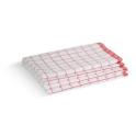 Torchons MICROFIBRE blanc à carreaux rouge 40X60cm LOT DE 4