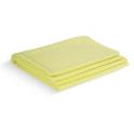 Torchons MICROFIBRE uni jaune 50X65cm LOT DE 4