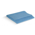 Torchons MICROFIBRE uni bleu 50X65cm  LOT de 4