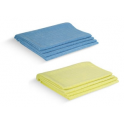 Torchons MICROFIBRE uni bleu et jaune 50X65cm LOT DE 8