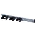 Rail alu 50 cm avec supports pour accrocher les outils - manches