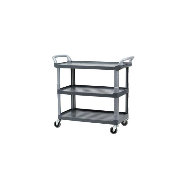 chariot de jardin chariot de cuisine desserte grise sur roulettes transport le raton laveur. Black Bedroom Furniture Sets. Home Design Ideas