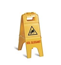 """Panneau sol gilssant H 57cm """"Attention sol glissant"""""""
