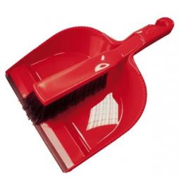 Pelle avec caoutchouc antidérapant et balayette Rouge Grand modèle