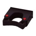 Support manche diam. 30 à 40 mm  pour rail alu