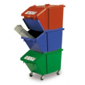 Poubelles containers ECO TRI pour le tri des déchets
