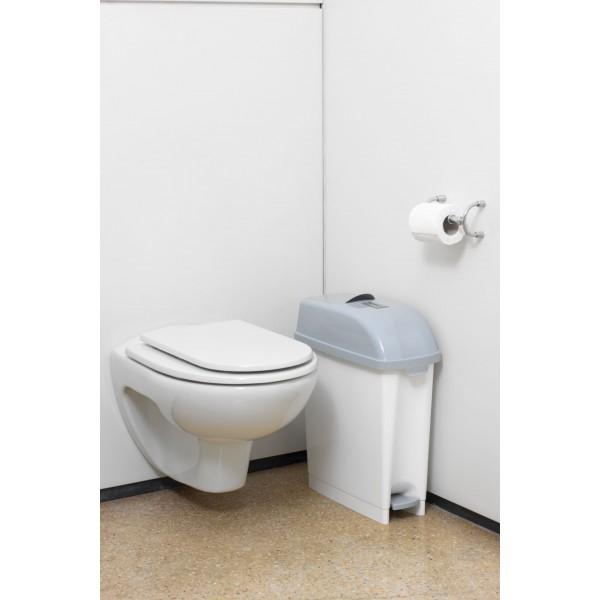 poubelle toilette wc salle de bain sans odeur 17 litres. Black Bedroom Furniture Sets. Home Design Ideas