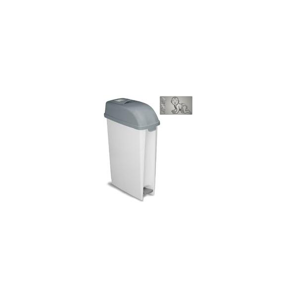 poubelle couche b b sans odeur 23 litres avec ouverture bascule et p dale le raton. Black Bedroom Furniture Sets. Home Design Ideas