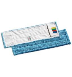 Frange à poches 40 cm microfibre bleu