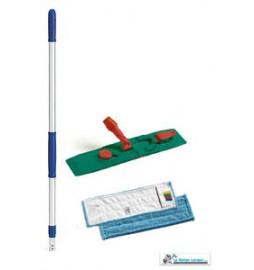 Support balai de lavage et de désinfection pliable 40 cm avec pince pour maintenir la frange à poches
