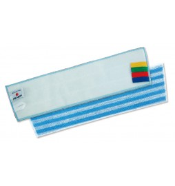 Bandeau microfibre dos système velcro 40 cm rayé bleu-blanc
