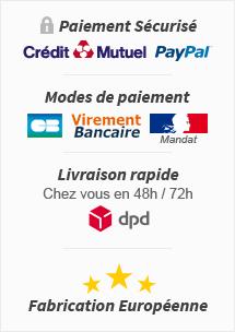 Paiement Sécurisé avec Crédit Mutuel et PayPal - Payez par CB, Virement Bancaire ou Mandat Administratif - Livraison en 48h / 72